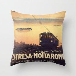 Vintage poster - Stresa-Mottarone Throw Pillow