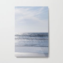 Sparkling seawater on the french coast - blue summer ocean- travel photography Metal Print