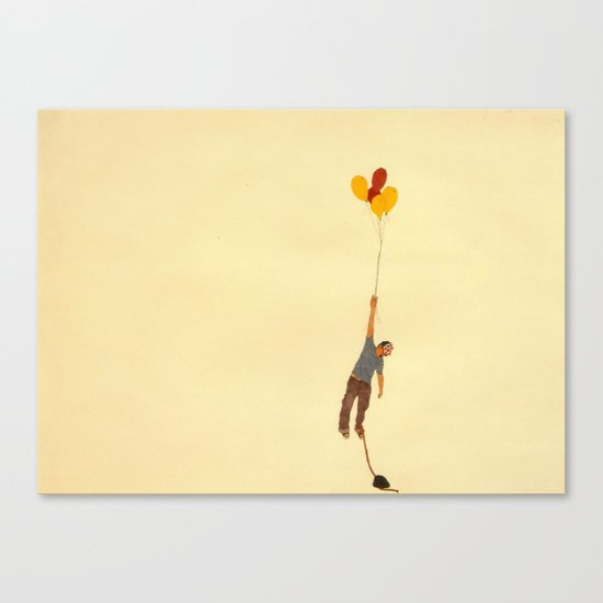 attempt to fly Canvas Print