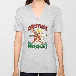 Christmas Rock Unisex V-Neck