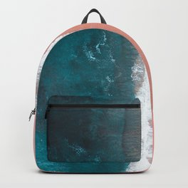 Turquoise Sea Pastel Beach Backpack