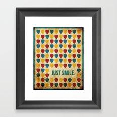 Just Smile. Framed Art Print