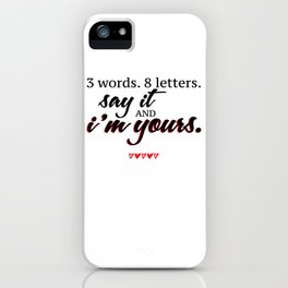 3 words. 8 letters. | gossip girl quote  iPhone Case