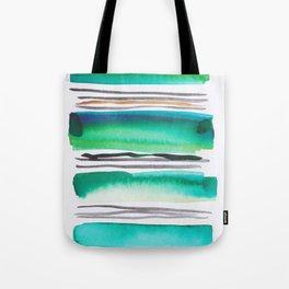 9  |181026 Lines & Color Block | Watercolor Abstract | Modern Watercolor Art Tote Bag