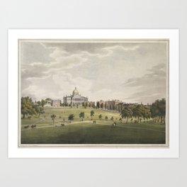 Vintage Illustration of The Boston Commons (1829) Art Print
