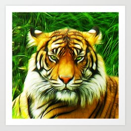 Tiger is Not Amused Art Print
