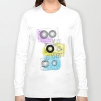 old school Long Sleeve T-shirts featuring old school by Sara Eshak