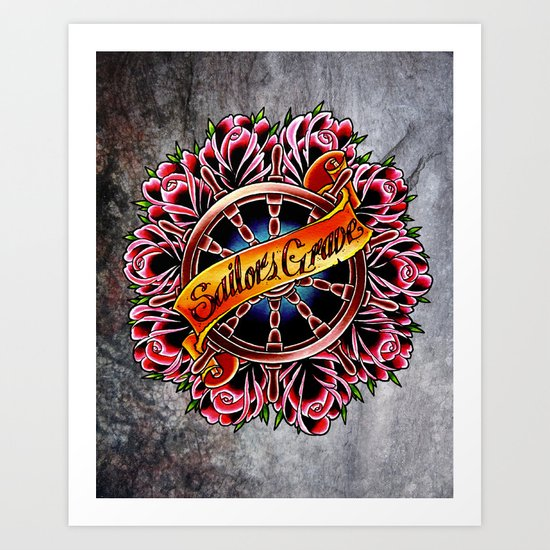 sailors grave Art Print