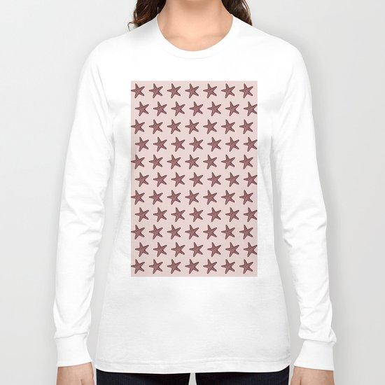 Starfish - Sea Star - Pattern #2 #decor #art #society6 Long Sleeve T-shirt