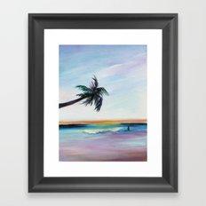 Be Back At Sunset Framed Art Print