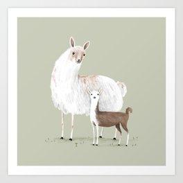 Llama Mama Art Print