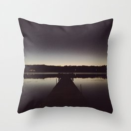 Ombre Lake Sunset Throw Pillow