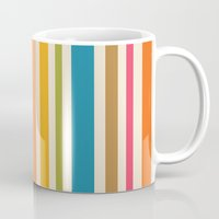 stripe Mugs featuring stripe by bobbybard
