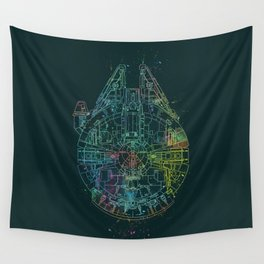 Millennium Falcon Painters Schematic Wall Tapestry