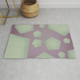 Geometric Shapes with Jute texture Rug