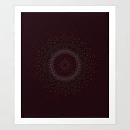 Abstract Zen Mandala Art Print