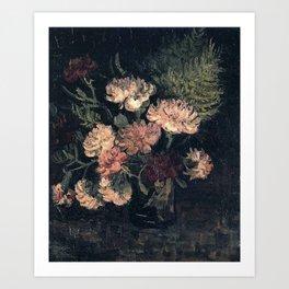 Vincent van Gogh Vase With Carnations 1886 Art Print