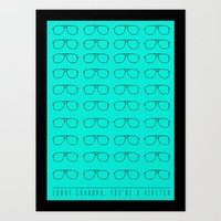 Sorry grandpa, you're a hipster. Art Print