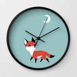 Moon Fox Wall Clock