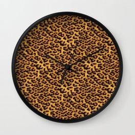 Chic Leopard Fur Fabric Wall Clock