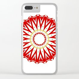 Mandala with colon cancer ribbon Clear iPhone Case