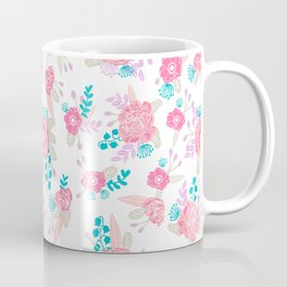 Florals bright modern color palette nursery home decor flower bouquet pattern Coffee Mug