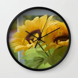 fake flowers Wall Clock