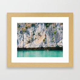 Fisherman in Halong Bay, Vietnam Framed Art Print