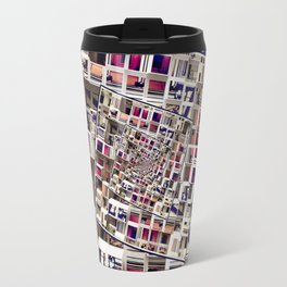White House With Spinning 3D Cubes Travel Mug
