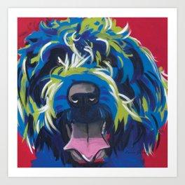 Wirehaired Griffon or Labradoodle Pop Art Pet Portrait Art Print