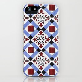 Portugal tile pattern iPhone Case
