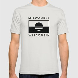 Milwaukee Wisconsin - Black - People's Flag of Milwaukee T-shirt