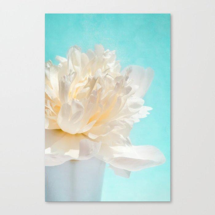 WHITE PEONY-DREAM Canvas Print