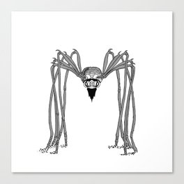 SPIDER . Black and White . Canvas Print