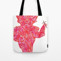 devil Tote Bags featuring Devil by Guice Mann