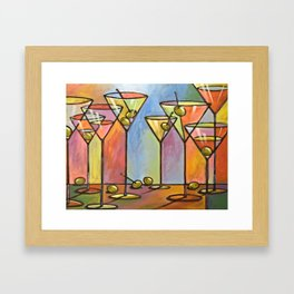 Martini Bar ... Abstract alcohol lounge bar kitchen art Framed Art Print