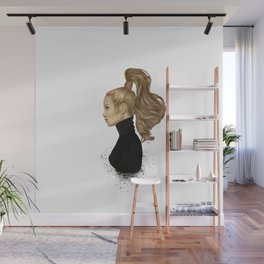 Hair Majesty - Stylish girl illustration Wall Mural
