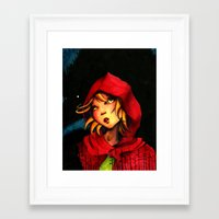 red riding hood Framed Art Prints featuring Riding Hood by Mawhyah