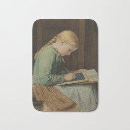ANKER, ALBERT (1831 Ins 1910) Writing girl. Bath Mat