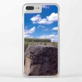 Landscape rock Clear iPhone Case