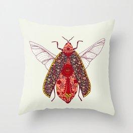 bohemian bug Throw Pillow