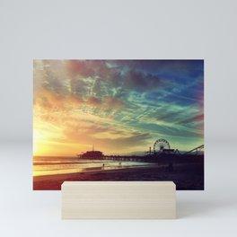 Santa Monica Sunset Mini Art Print