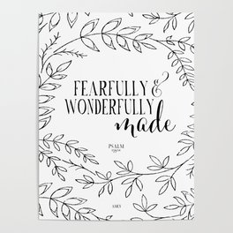 Fearfully and Wonderfully Made Poster