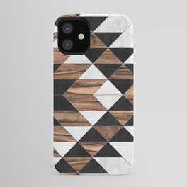 Urban Tribal Pattern No.9 - Aztec - Concrete and Wood iPhone Case