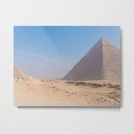 Pyramids of Giza Egypt Cairo Metal Print