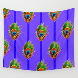 Decorative Contemporary  Peacock Feathers Art Wall Tapestry