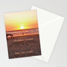 Shabbat Shalom From Tela-Viv Israel. Stationery Cards