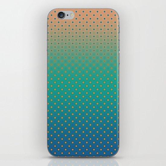 Polka Plankton Blue iPhone & iPod Skin