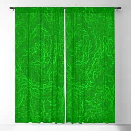 Neon Green Alien DNA Plasma Swirl Blackout Curtain