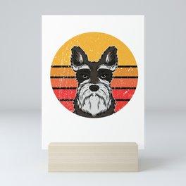 Cute Vintage Schnauzer Puppy Dog Owner Gift Mini Art Print